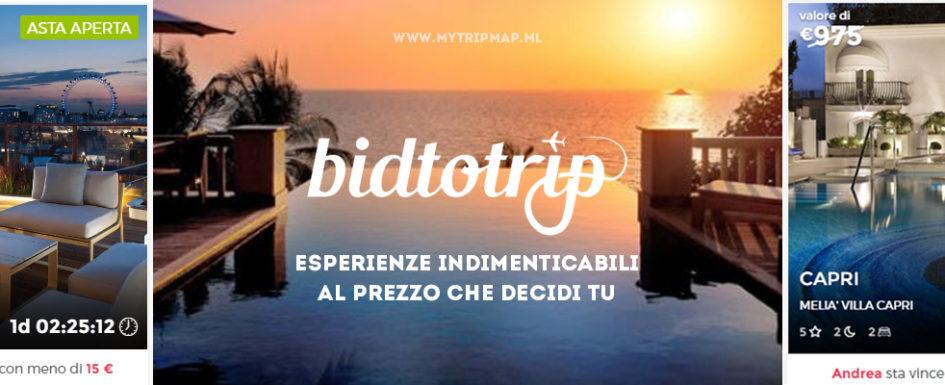 Bidtotrip - Hotel e soggiorni di lusso scontati fino al 70% - mytripmap