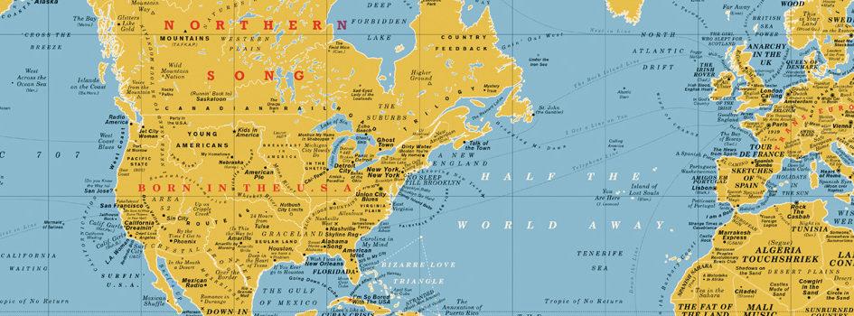 La mappa del mondo con le canzoni the song world map - Mappa del mondo contorno ks2 ...