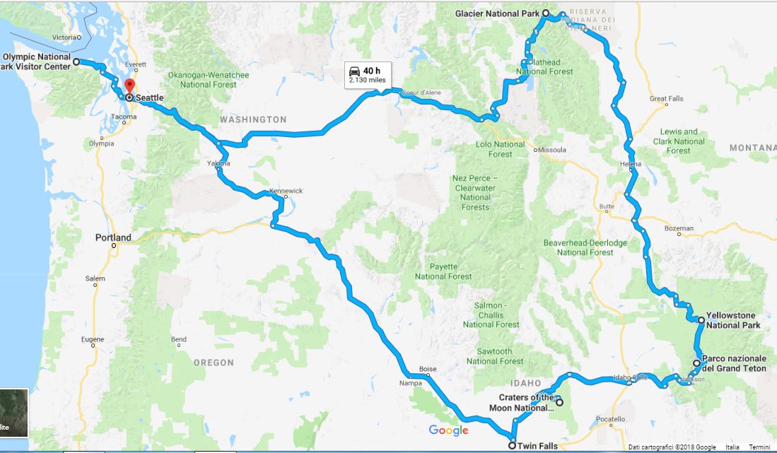 #3 - USA on the road: itinerario grandi parchi del Nord Ovest (da Seattle)