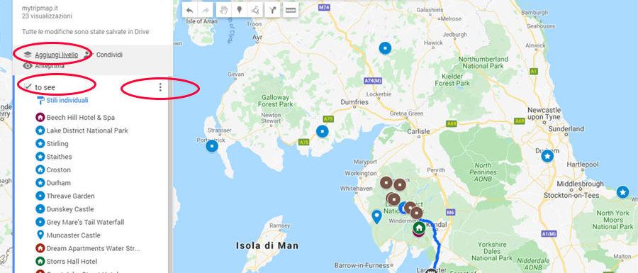 Nuovo livello My Maps