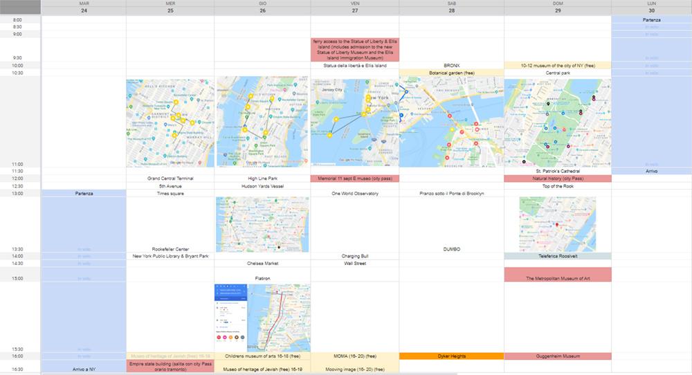 Itinerario a ny
