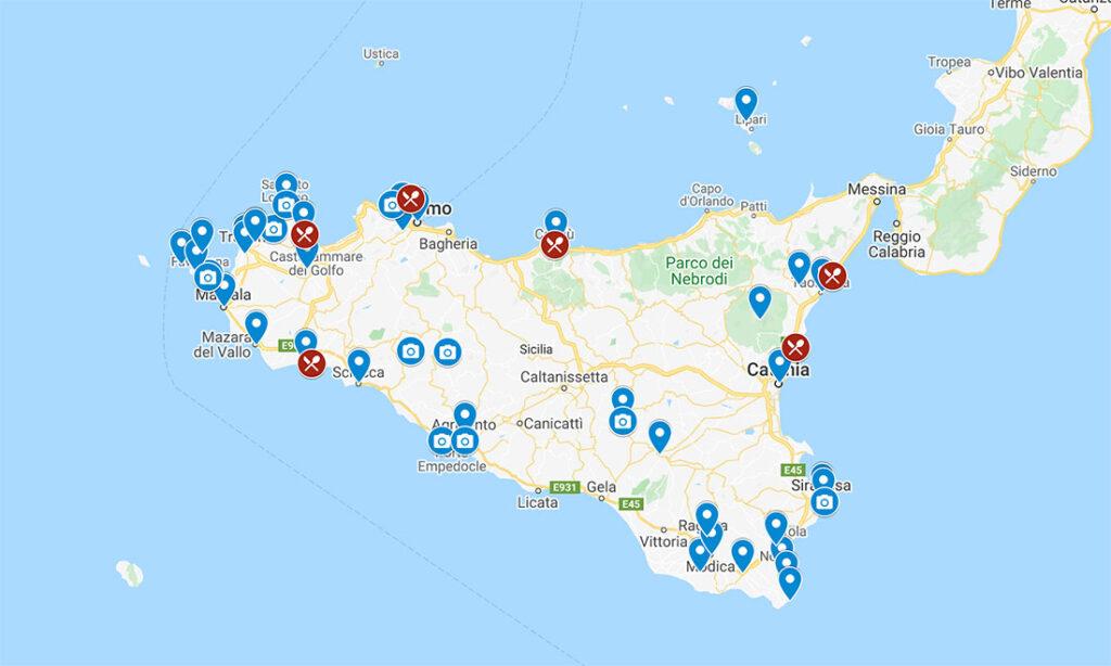 Itinerario di un mese in Sicilia